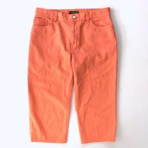 Ralph Lauren Coral Orange Denim Capris
